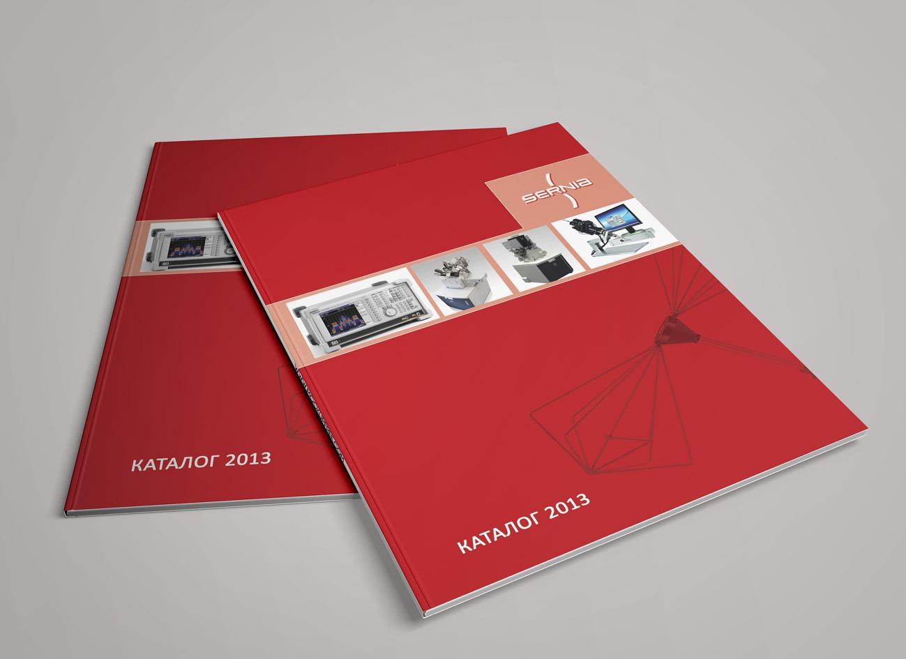 серния, дизайн и верстка каталога